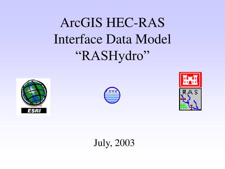 Arcgis hec ras interface data model rashydro