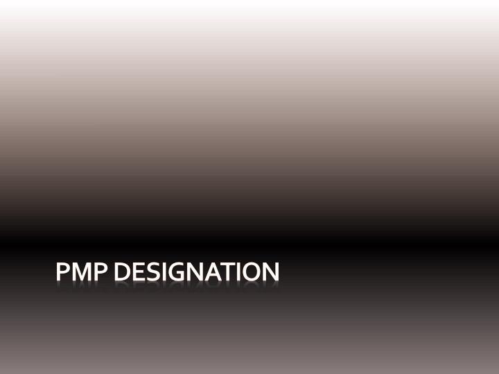PMP Designation