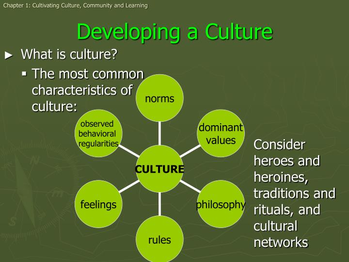 Chapter 1: Cultivating Culture, Community and Learning