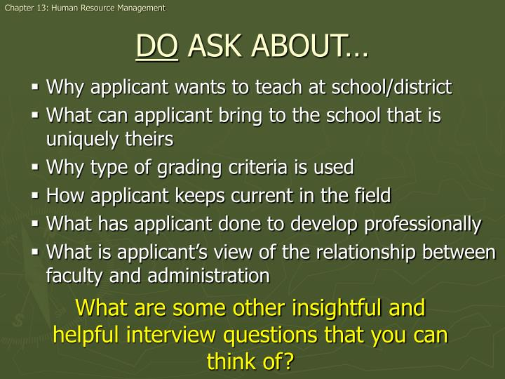 Why applicant wants to teach at school/district