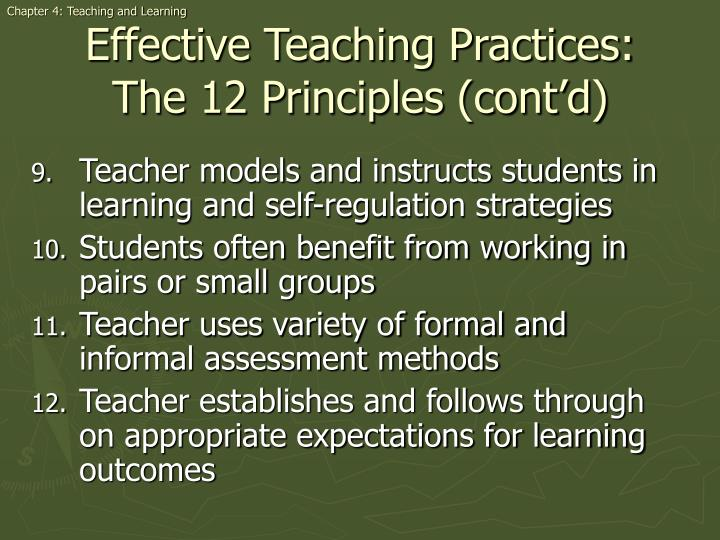 Chapter 4: Teaching and Learning