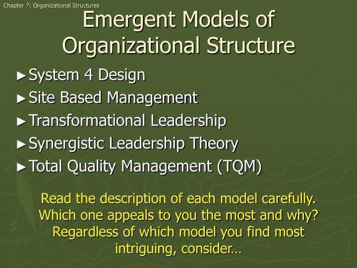 Chapter 7: Organizational Structures