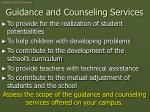 guidance and counseling services