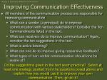 improving communication effectiveness