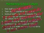 maintaining school culture