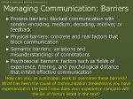 managing communication barriers