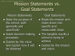 mission statements vs goal statements
