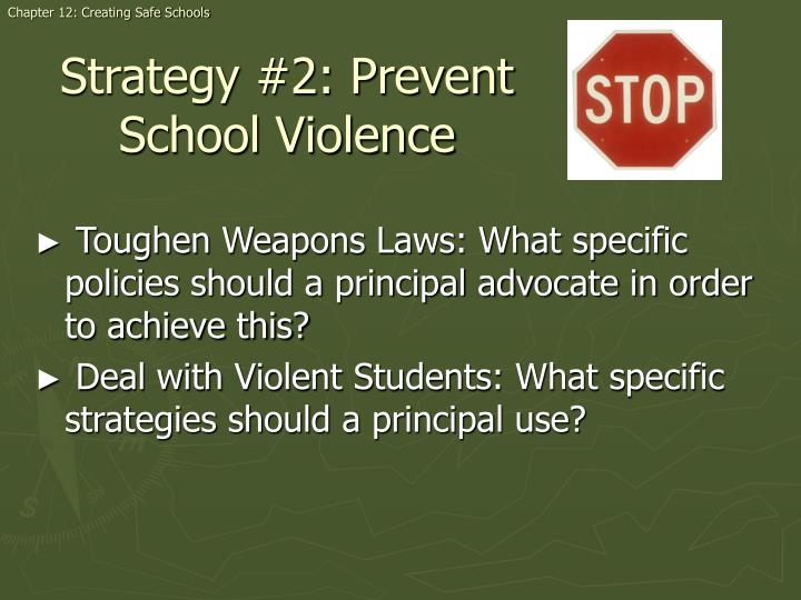 Chapter 12: Creating Safe Schools