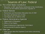 sources of law federal