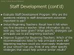 staff development cont d