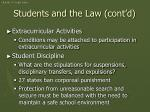 students and the law cont d