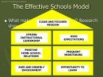 the effective schools model