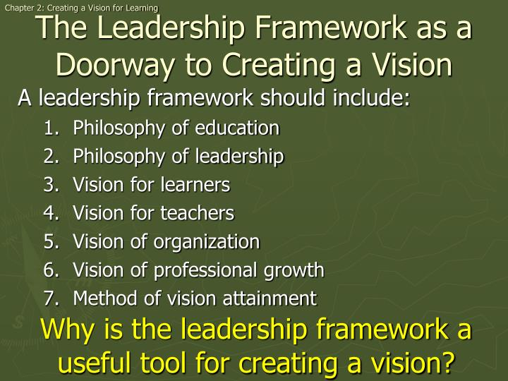 Chapter 2: Creating a Vision for Learning