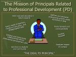 the mission of principals related to professional development pd