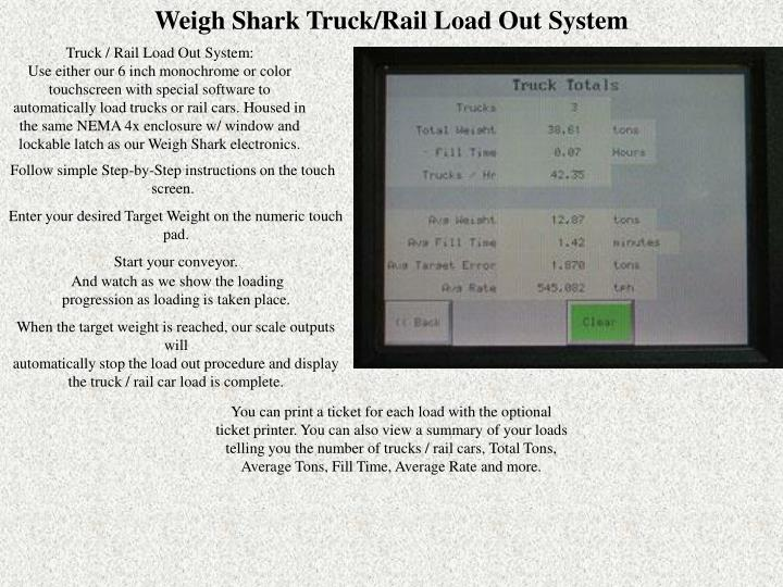 Weigh Shark Truck/Rail Load Out System