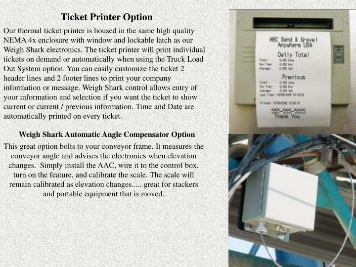 Ticket Printer Option