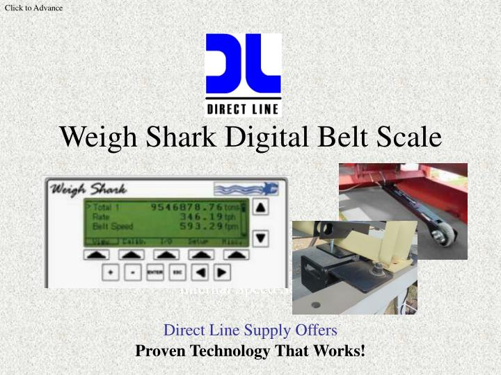 Weigh shark digital belt scale