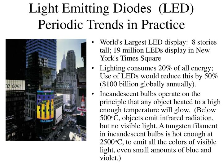 Light Emitting Diodes  (LED)