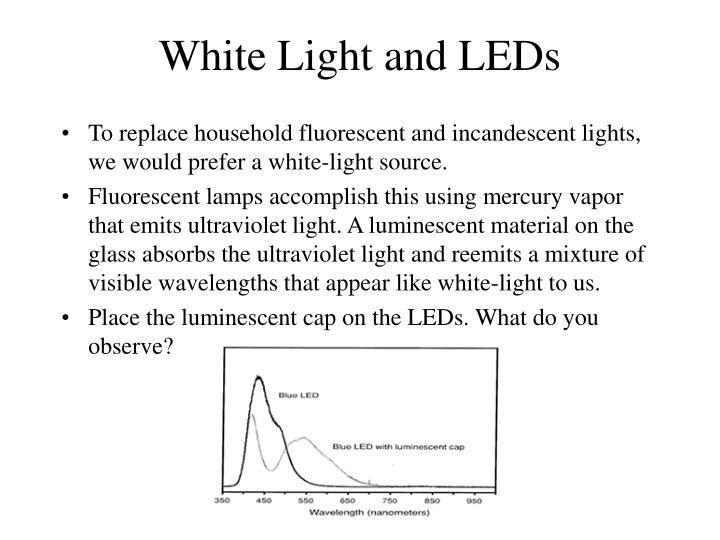 White Light and LEDs
