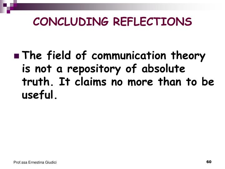 CONCLUDING REFLECTIONS