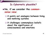 is cybernetic plausible