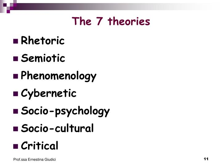 The 7 theories