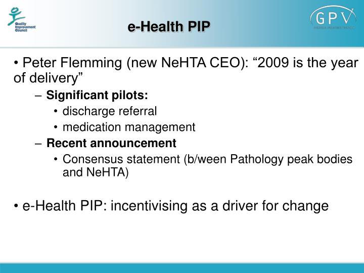 e-Health PIP