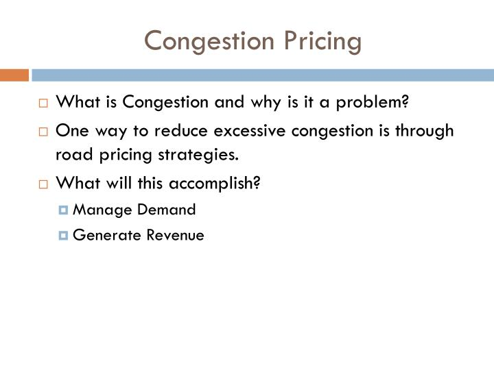 Congestion Pricing