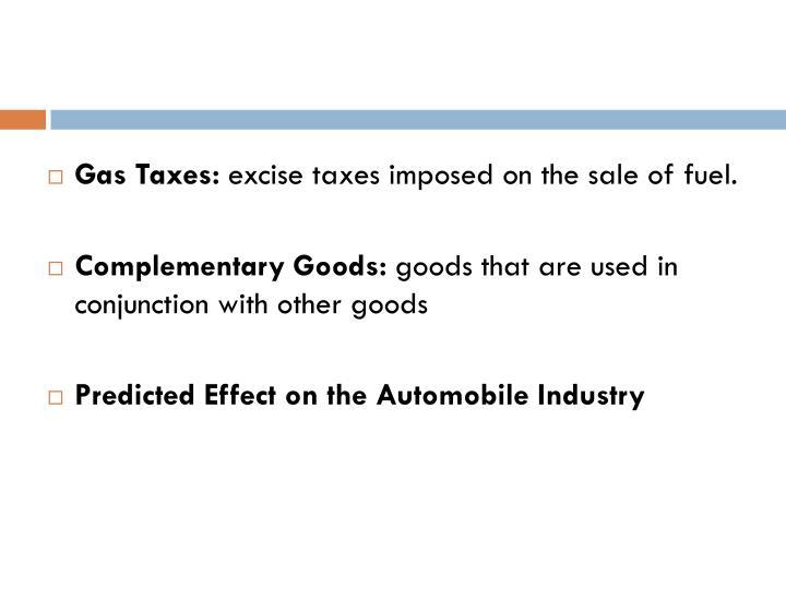Gas Taxes: