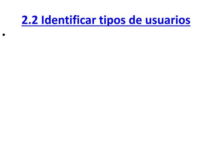 2.2 Identificar