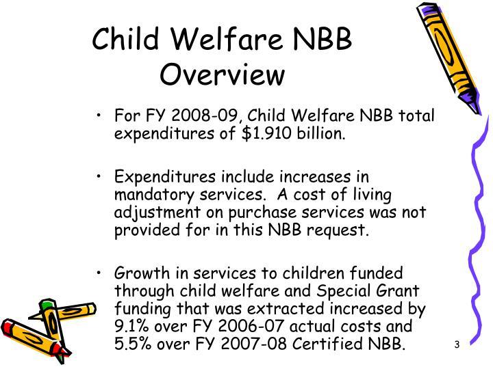 Child Welfare NBB Overview