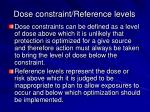 dose constraint reference levels