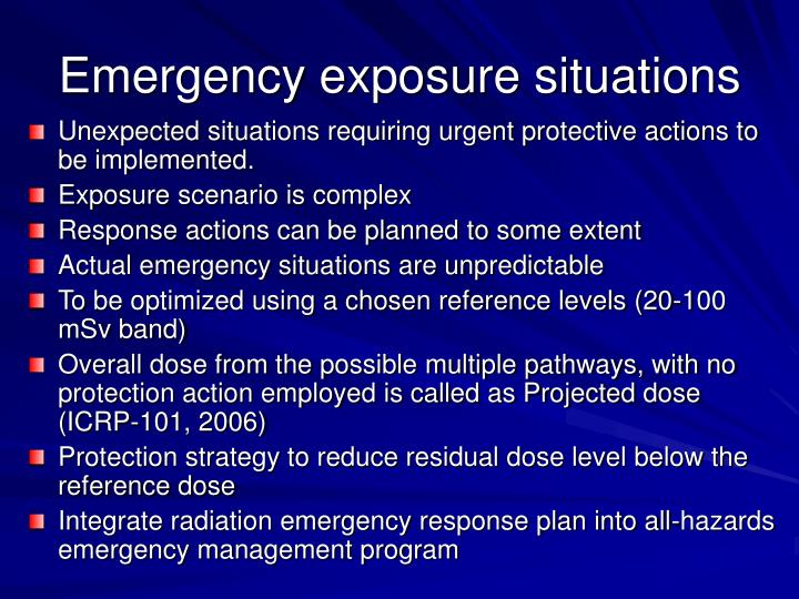 Emergency exposure situations