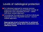 levels of radiological protection