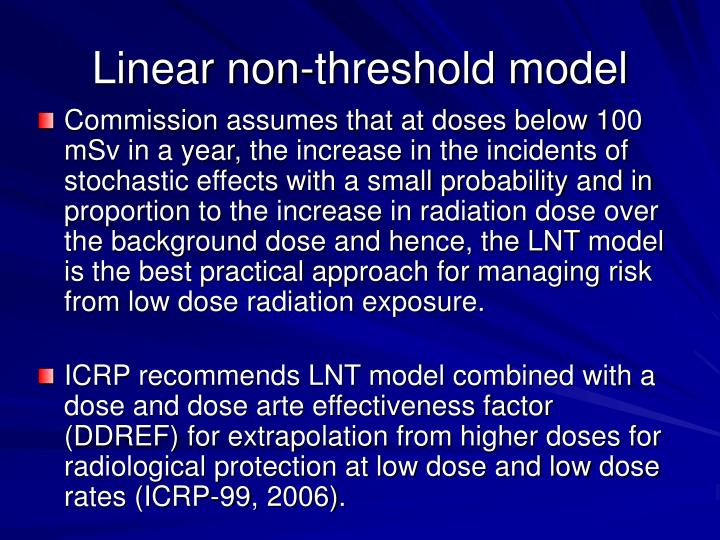Linear non-threshold model