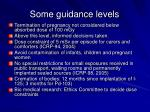 some guidance levels