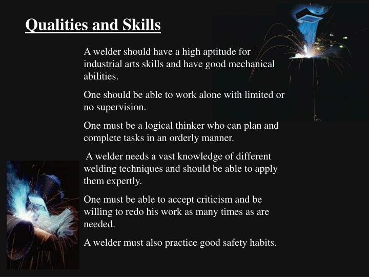 Qualities and Skills