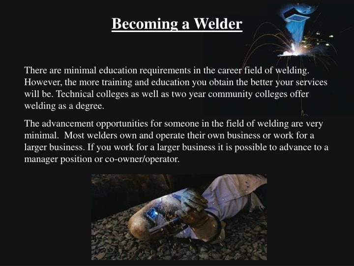 Becoming a Welder