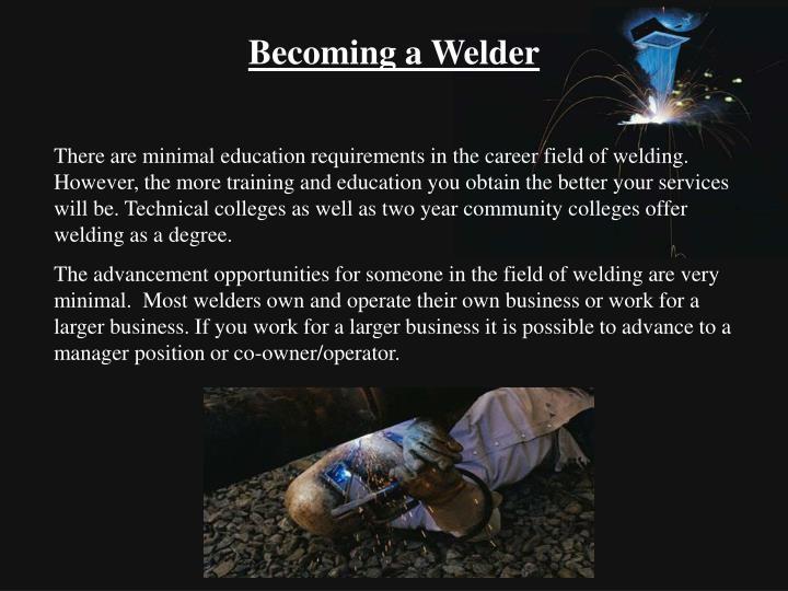 Becoming a Welder