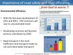 importance of road safety and road efficiency1