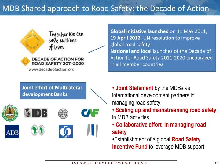 MDB Shared approach to Road Safety: the Decade of Action