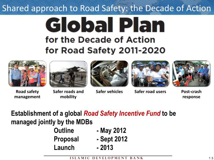 Shared approach to Road Safety: the Decade of Action