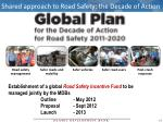 shared approach to road safety the decade of action