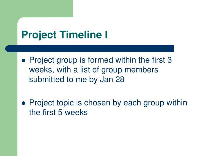 Project Timeline I