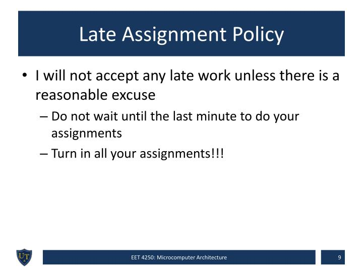 Late Assignment Policy