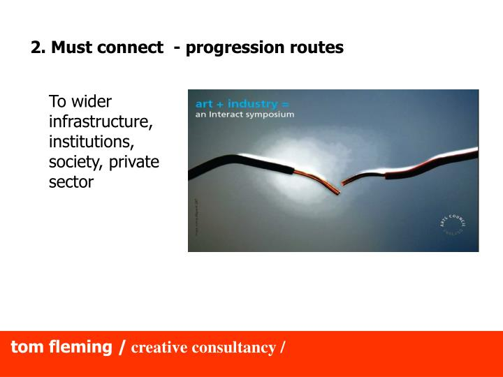2. Must connect  - progression routes