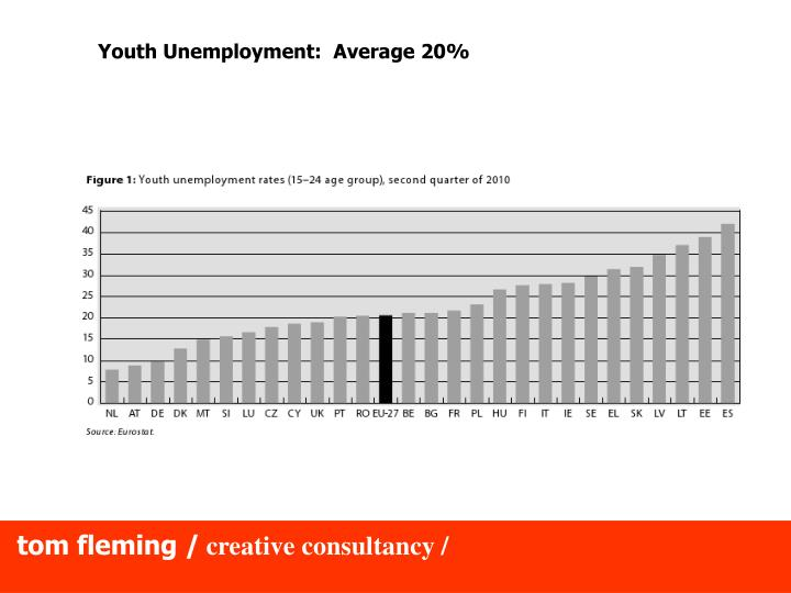 Youth Unemployment:  Average 20%