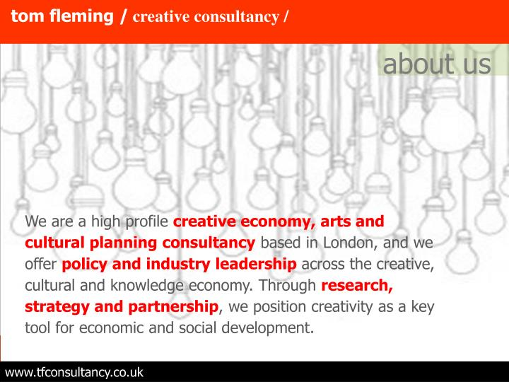 Tom fleming creative consultancy