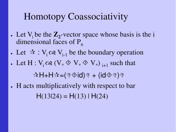 Homotopy Coassociativity