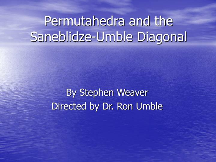permutahedra and the saneblidze umble diagonal